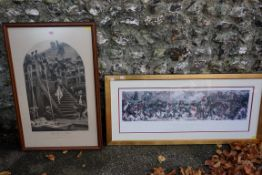 WITHDRAWN FROM SALE A print 'Farewell to Nelson'; together with another titled