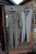 WITHDRAWN FROM SALE A USAF fighter jet pilot's jumpsuit; together with internal