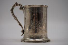A Victorian silver Christening mug, by Alexander Macrae, London 1868, 9cm high, 182g.