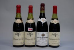 Three 75cl bottles of Chateauneuf du Pape, 1983, Ets Loron; together with a 75cl bottle of