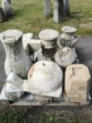 Architectural stone: Another collection of stone architectural fragments for a rockery gardenThe