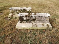 Troughs/Planters: A rare pair of Austin and Seeley composition stone rectangular alpine troughs, 2nd