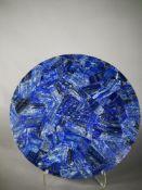 Minerals/Interior Design: A Lapis lazuli veneered circular tabletop52cm diameter
