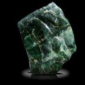 Minerals/Interior Design: A nephrite freeform44cm high by 35cm wide by 7cm deep, 23.3kg
