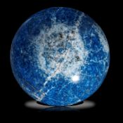 Minerals/Interior Design: A blue jean Lapis lazuli sphere15cm diameter, 4.77kg