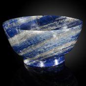 Minerals/Interior Design: A Lapis lazuli bowlin presentation box16cm diameter, 880 grams