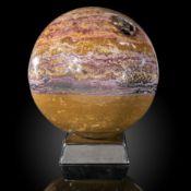 Minerals/Interior Design: An ocean jasper sphere28cm diameter, 25kg