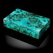 Minerals/Interior Design: A shattuckite veneered marble box19cm by 12cm