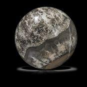Minerals/Interior Design: A Cotham marble fossil stromatolite sphereBristol, UK, Triassic,