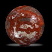 Minerals/Interior Design: A large red jasper sphere30cm diameter, 35kg