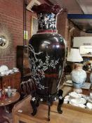 Japanese Floor Vase on Stand
