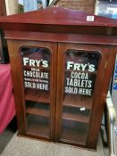 Fry's Chocolate Mahogany Shop Display Cabinet - 117cm high by 90cm across