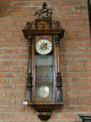 Victorian Mahogany Vienna Wall clock