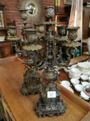 Pair of Brass Candlesticks - 45cm high