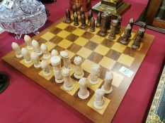 York-Inspired Medieval Style Chess Set