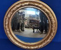 Large Gilt Framed Circular Mirror