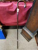 Silver-Topped Walking Cane - 92cm long, Birmingham 1919 hallmark