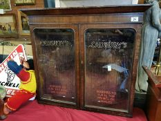 Cadbury's Chocolate Oak Shop Display Cabinet - 84cm across by 76cm high