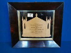 Victorian Memorial Plaque of Thomas Horton