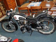 BSA Phantom 250cc Black Reg TSK 555. First registered 16 June 1958, 10 registered keepers