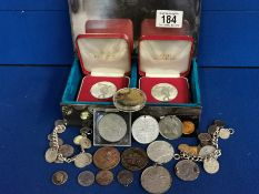Collection of Commemorative Coins & Medals + 1984 Olympics Set