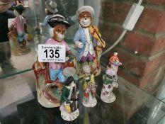 Continental Pottery Cat Musicians & Sitzendorf Monkey Band