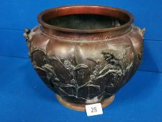 Antique Japanese Meiji Period Bronze Chamber Pot