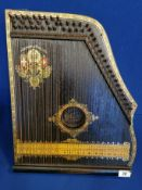 Vintage Anglo-American Guitar Zither Musical Instrument