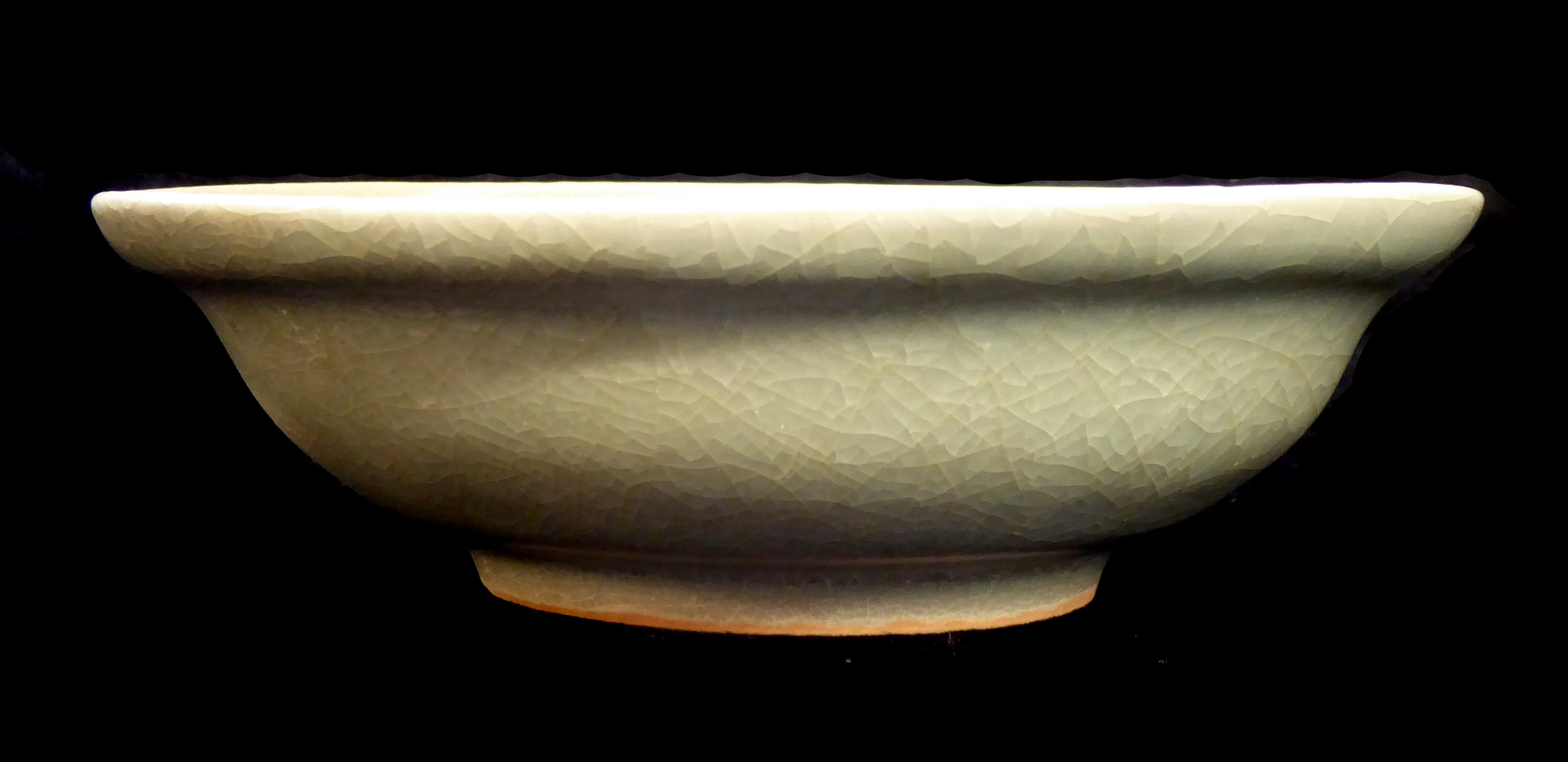 Lot 162 - A CHINESE SONG DYNASTY LONGQUAN CELADON GLAZE BOWL Of plain form, together with a vase of plain form
