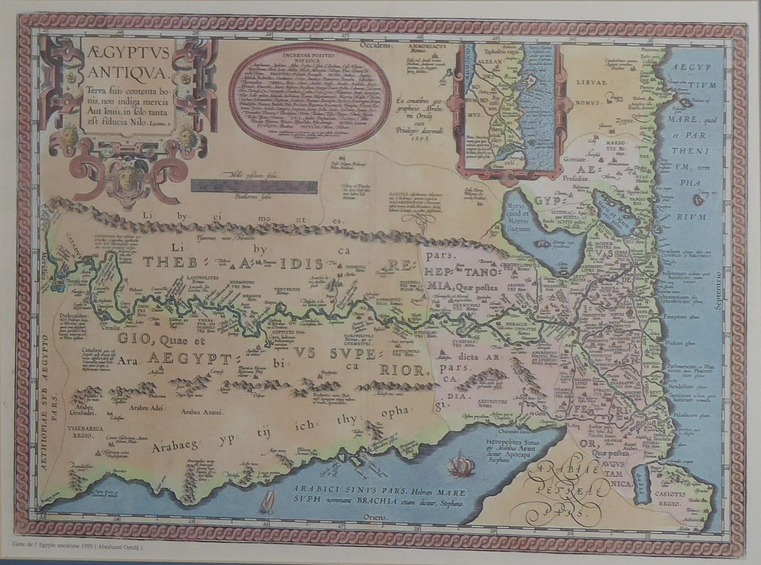 Lot 563 - AN 18TH CENTURY HAND COLOURED ENGRAVED MAP OF NORTHUMBERLAND By Robert Morden, together with a