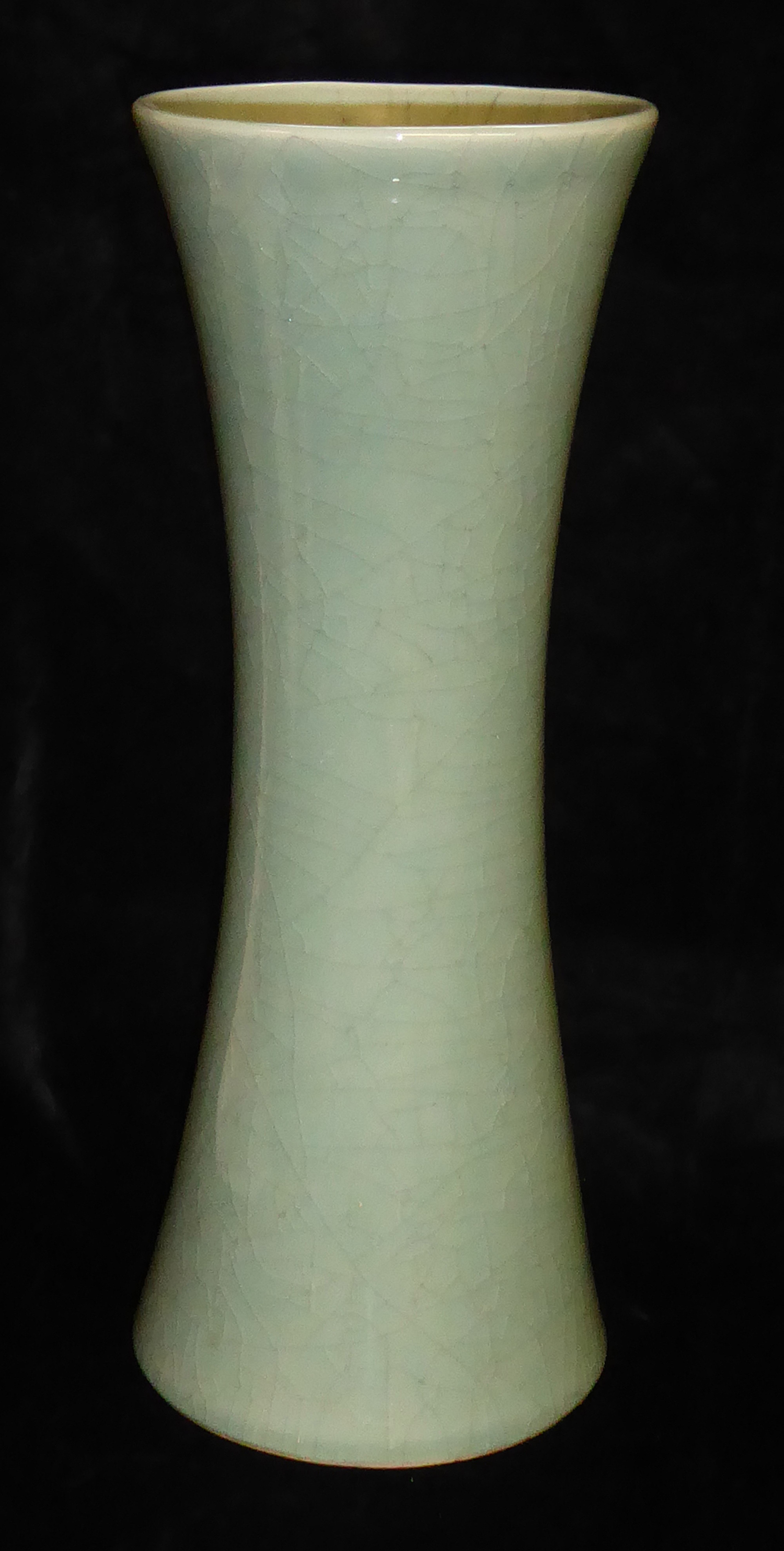 Lot 161 - A LARGE CHINESE CRACKLE GLAZE VASE Of plain form with flared rim Approx 46cm