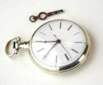 A 19TH CENTURY CHINESE SILVER GENTS POCKET WATCH Having Roman number markings and seconds sweep