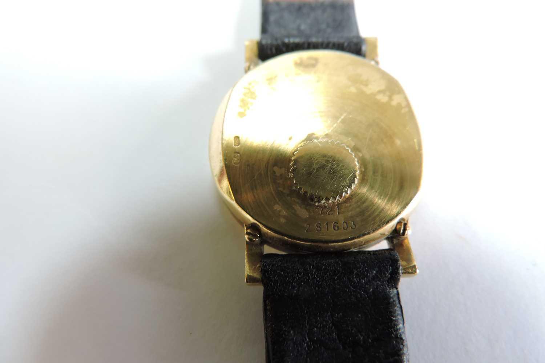 Lot 360 - A ladies' 18ct gold Piaget quartz strap watch,