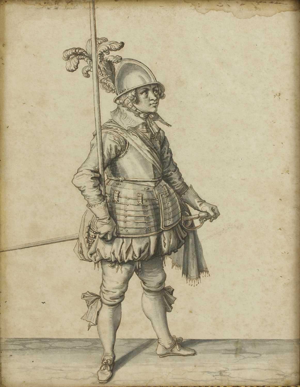 Lot 362 - Dutch School, 18th century, attributed to Jacob de Gheyn the Younger