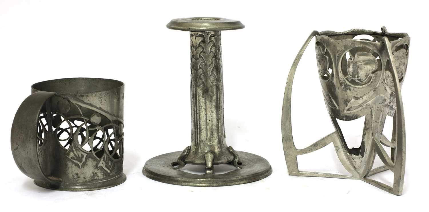 Lot 193 - A collection of Liberty Tudric pewter wares,