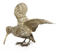 A Continental silver model of a woodcock,