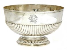 A Victorian silver rose bowl,