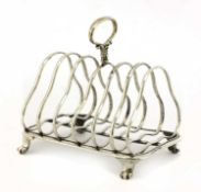 A Victorian six-division toast rack,
