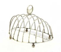 A George III silver oval eight-division toast rack,