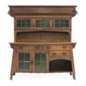 An Arts and Crafts oak dresser,