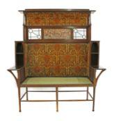A Liberty & Co. mahogany settle,