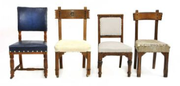 Four architect-designed chairs,