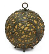 An interesting Arts & Crafts metal chinoiserie lantern,