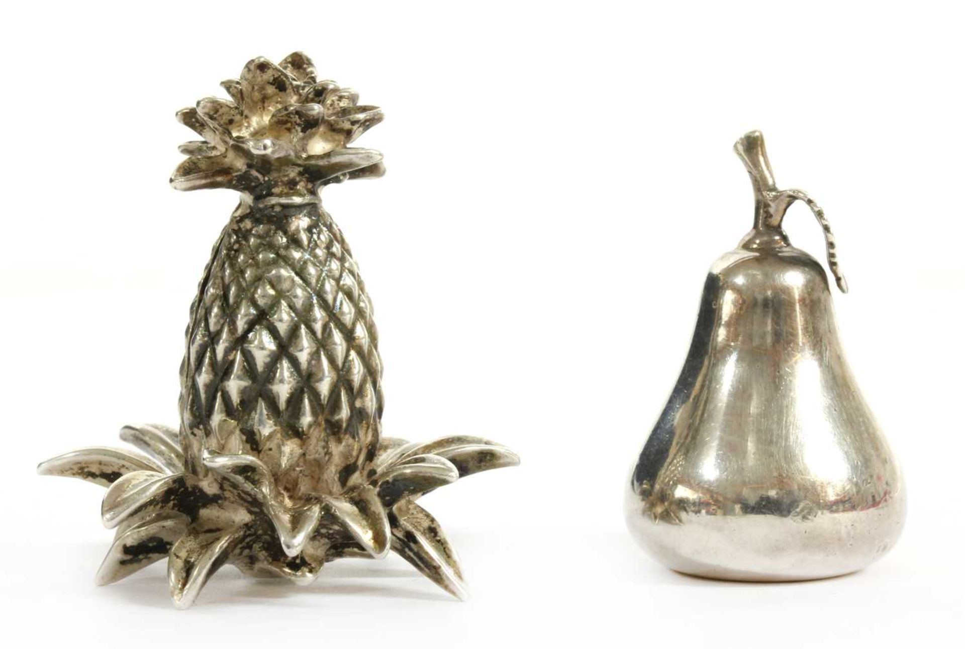 Two silver menu holders, by Tiffany & Co,