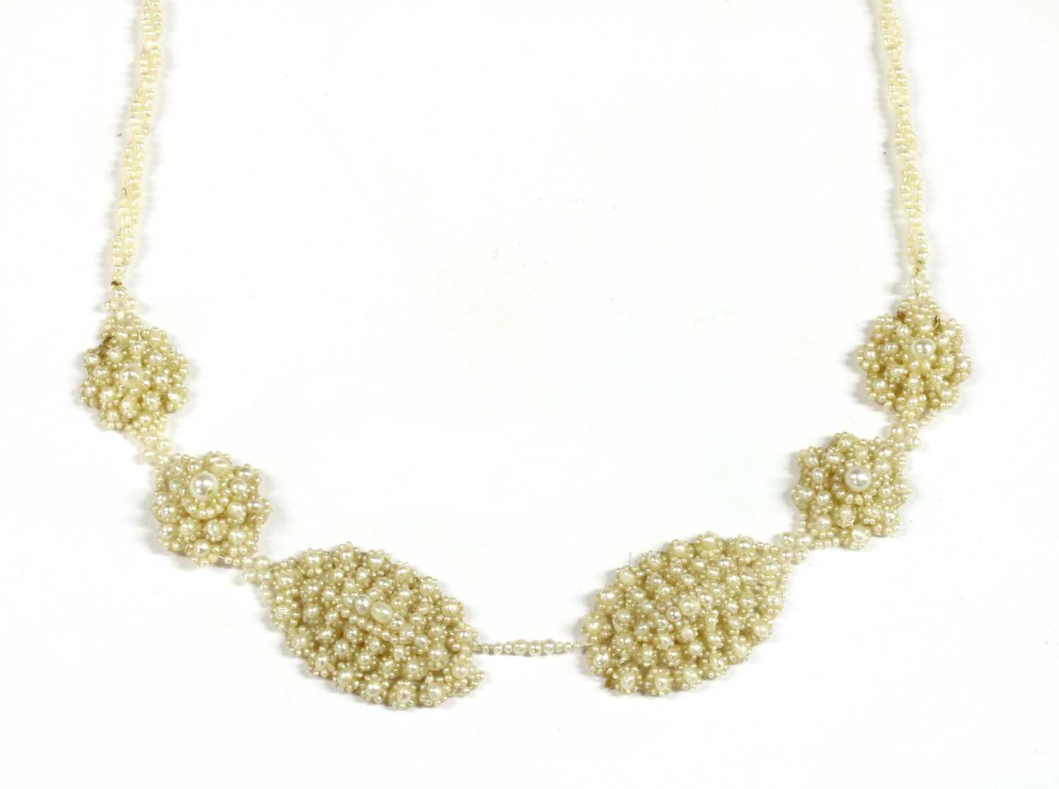 A seed pearl necklace,