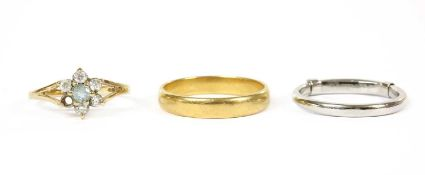 A 22ct gold wedding ring, by Charles Green & Sons,