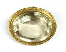 A Victorian citrine pendant,