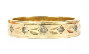 A 9ct gold paste ring,