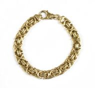 A 9ct gold bracelet,