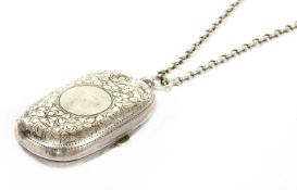 An Edwardian sterling silver twin section sovereign case,
